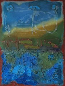 De chaos ontstegen-2017-Acryl/zand-canvas-69x80cm